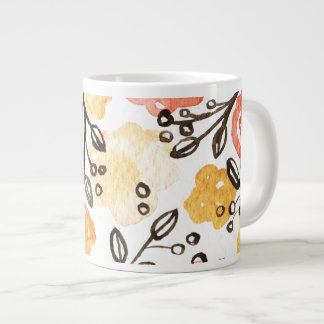 Berries and Floral Giant Coffee Mug