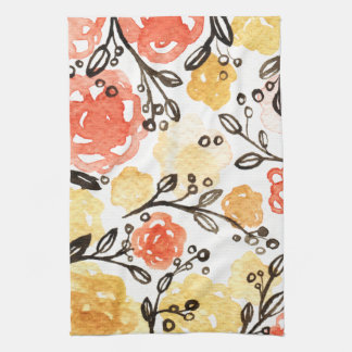 Berries and Floral Kitchen Towel