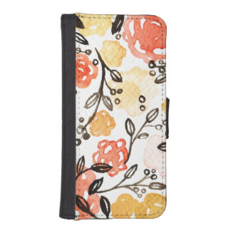 Berries and Florals Wallet Phone Case For iPhone SE/5/5s