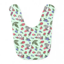 Berries and Guinea pig Baby Bib