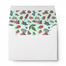 Berries and Guinea pig Pattern Envelope
