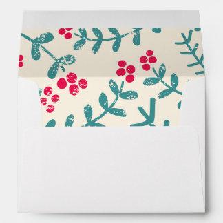 berries and leaves envelopes