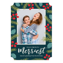 Berries and Pine Holiday Photo Card