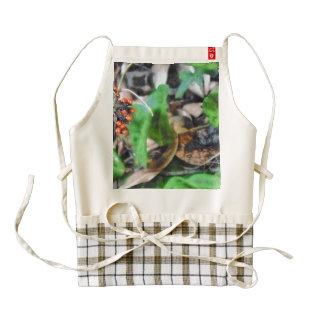 Berries and plant zazzle HEART apron