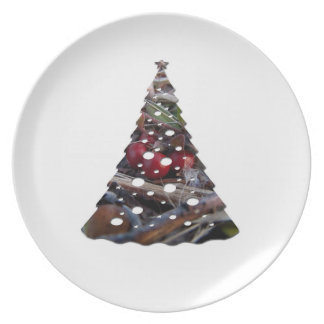 Berries and Twigs; Merry Christmas Dinner Plate