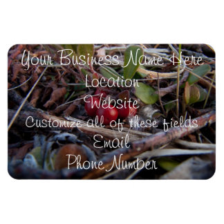 Berries and Twigs Rectangular Photo Magnet