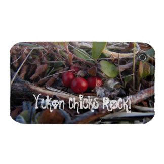 Berries and Twigs; Yukon Chicks ROCK! iPhone 3 Cover