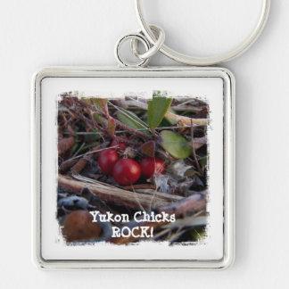 Berries and Twigs; Yukon Chicks ROCK! Keychain