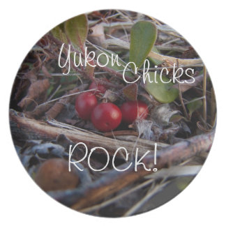 Berries and Twigs; Yukon Chicks ROCK! Plate