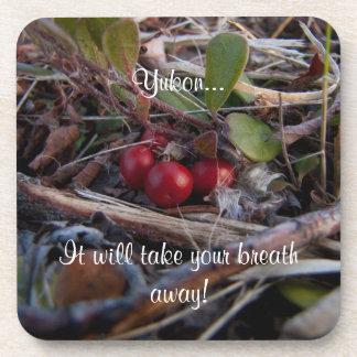 Berries and Twigs; Yukon Territory Souvenir Coaster
