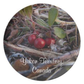 Berries and Twigs; Yukon Territory Souvenir Dinner Plate