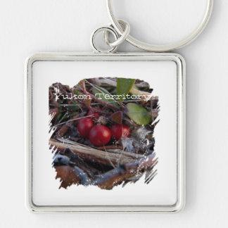 Berries and Twigs; Yukon Territory Souvenir Keychain