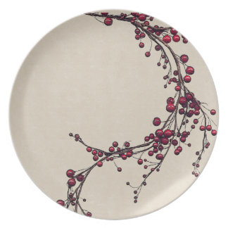 Berries and Vines Melamine Plate