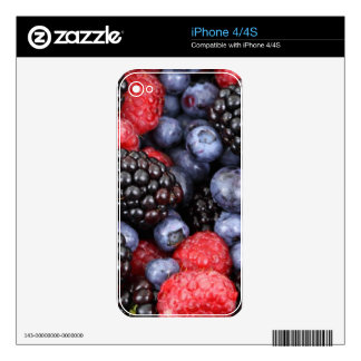 berries background decal for iPhone 4