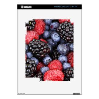 berries background iPad 3 decal