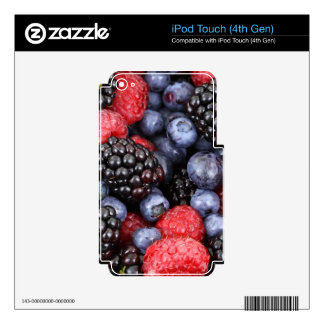 berries background iPod touch 4G decals