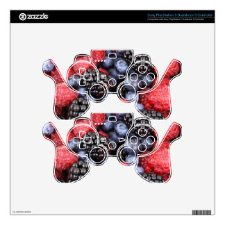 berries background PS3 controller skin
