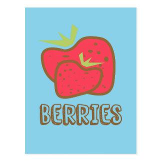 Berries Blue Postcard