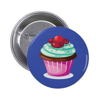 Berries Cupcake Button Badge