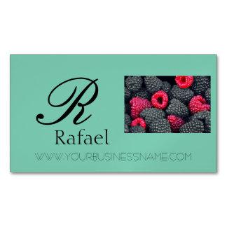 Berries Fruit Elegant Name Monogram Business Business Card Magnet