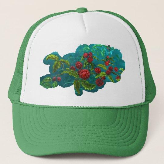 Berries in Green Trucker Hat