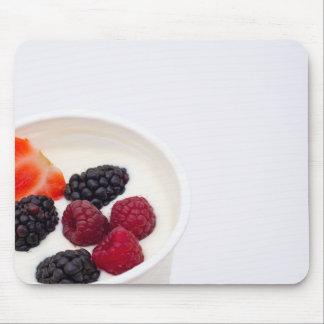 Berries in yogurt mouse mat mouse pad