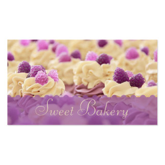 Berries n' Cream Cupcake Bakery Double-Sided Standard Business Cards (Pack Of 100)