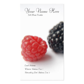 berries profile card business card