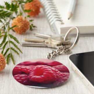 berries red fruit fresh healthy Raspberries Keychain