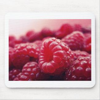 berries red fruit fresh healthy Raspberries Mouse Pad