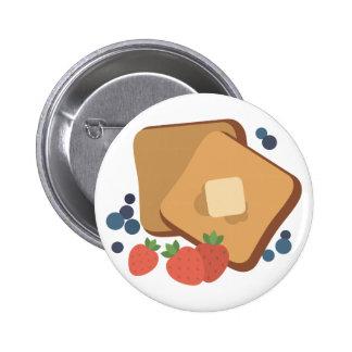 Berries & Toast Pinback Button