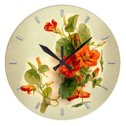 Berro indio anaranjado reloj de pared