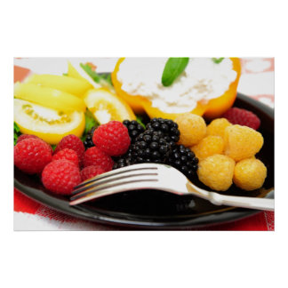 Berry And Cottage Cheese Salad Print