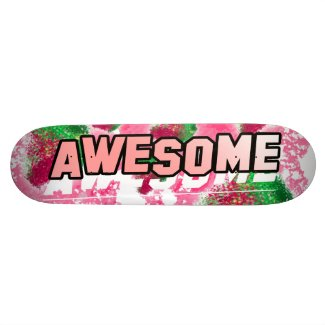 Berry Awesome Fruity Pink Skateboard
