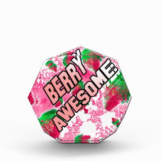 Berry Awesome Fruity Strawberries Acrylic Award