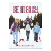 Berry Be Merry Holiday Card Personalized Announcements