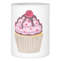 berry berry pink cupcake flameless candle