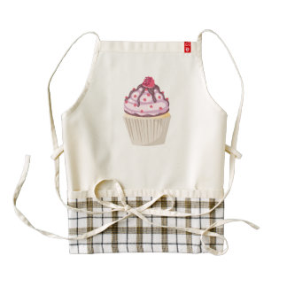 berry berry pink cupcake zazzle HEART apron