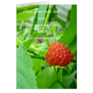 Berry Berry  Raspberry Card