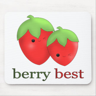 Berry Best Kawaii Strawberry Mouse Pad