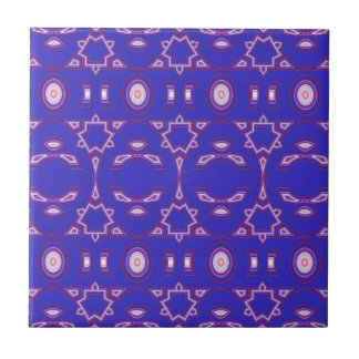Berry Blue Pink and White Geometric Ceramic Tiles