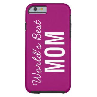 Berry Blue World's Best Mom Custom iPhone 6 Case