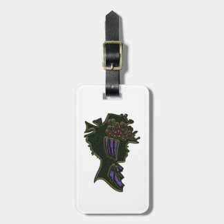 Berry Bonnet Cameo Luggage Tag