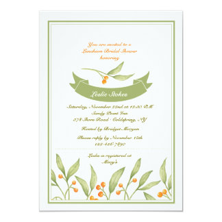 Berry Border Invitation