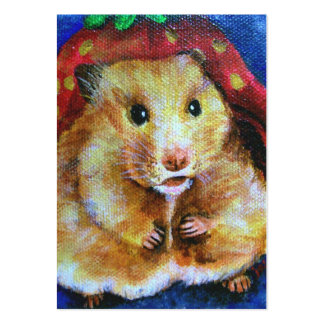 Berry Boy (Hamster) ACEO Art Trading Cards Large Business Card