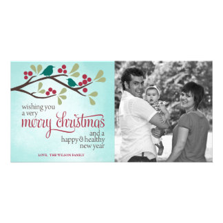 Berry Branch Christmas Photo Greeting Card