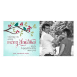 Berry Branch Christmas Photo Greeting Personalized Photo Card