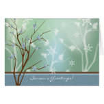 Berry Branch Holiday Card - Teal