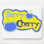 Berry Cherry Blue Mousepads