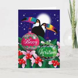BERRY CHRISTMAS CARD card